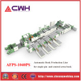 Automatic Exercise-Book Machine/Production Line, for Staple Pin Books and Sewn Books, Flexo Printing, Ruling, Cover Page Inserting, Stitching, Sewing