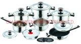 Heavy Weight Home Appliance 16PCS Wide Edge Cookware Set