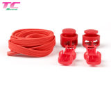 Hot Selling Flat Elastic No Tie Lazy Shoelaces with Plastic Lock, Stock Shoelace Factory