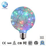 Made in China Vintage Edison Light Bulb Decoration LED Filament Lamp Copper Wire String Colorful E26/E27 Dimmable LED Starry Bulb 2700K 1.5W RGB-G95