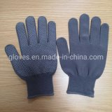 Nylon Knit Hand Protective Work Gloves with Rubber Grip Dots