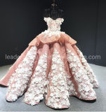 3D Flowers Wedding Ball Gowns Lace Beaded Prom Eevning Dresses Z1065