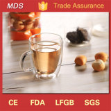 Best Price Products Double Wall Glass Coffee Mug with Handle