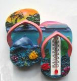 Maldives Dolphin Promotional Fridge Magnet Thermometer