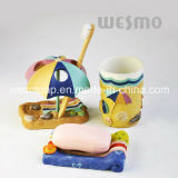 Seashore Theme Polyresin Bathroom Set