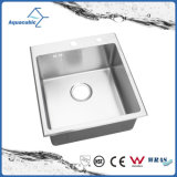 High Quality Single-Bowl Hand Made Sink Stainless Steel Sink (ACS4550R)
