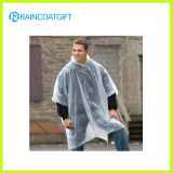 Unisex Transparent PE Disposable Rain Coat