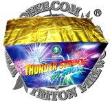 Thunder Struck 49 Shots Fan Cake Fireworks