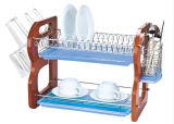 2 Layers Metal Wire Kitchen Dish Rack No. Dr16-2bw