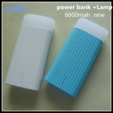 2015 New Stype Private Mould Power Bank 6600mAh with Lamp From Manufacture