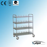 Stainless Steel Four Shelves Hospital Medical Instrument Trolley (J-23)