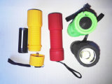 Rich Color Cheap COB Flashlight with Plastic Body Powered by 3AAA