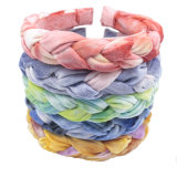 5 Color Braided Velvet Headband with Tie Dye Effect M20825