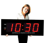 Large Size Red Emitting LED Wall Digital Clock with Remote Controll