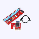 007s Pcie Riser Card 1X to 16X USB 3.0 SATA to 4pin IDE Power Connector
