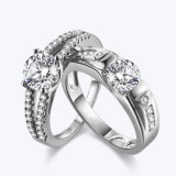 925 Silver Diamond Lovers Rings