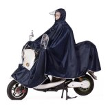 Men′s 100% Polyester Waterproof Rain Poncho for Electric Bike Riding