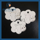 Flower Shape Plastic Earring Card with Textured Paper Covered (CMG-103)