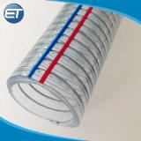 PVC Flexible Spiral Steel Wire Reinforced Hose / Transparet PVC Pipe