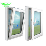 Green Color Double Glazing Aluminum Swing Window