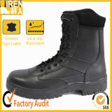 All Leather Black Police Tactical Boots