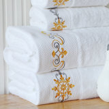 Embroidery 100% Cotton Custom Hotel Face Towel