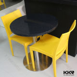 Round Black Stone Indoor Table Set for 2 Seater