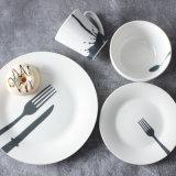 Cheap Dinnerware Wedding White Glazed Porcelain Dinner Set