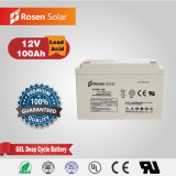 Rechargeable Gel Battery Cheap 12V 100ah Solar Battery Bank