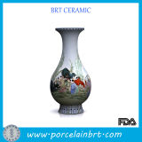 Playing Kids Pattern Chinese Vase