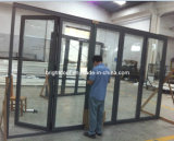 5 Pane Aluminum Folding Patio Door with Low Threshold and Flyscreen Is Available (CL-D2021)