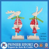 Wooden Reindeer with Star and Mini-Tree for Christmas Home Ornament