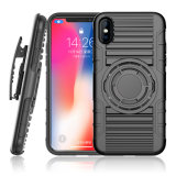 2018 Newest 8 in 1 Multifunction Case for iPhone X with Kickstand and Belt Clip Case