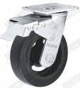 Heavy Duty Rubber Caster Wheel with Top Brake (G4401)