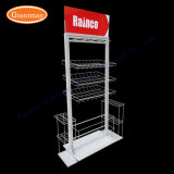 Wholesale Umbrella Free Standing Metal Wire Hanging Display Racks with Baskets and Hooks