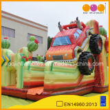 2019 New Monster Truck Inflatable Slide Bouncer (AQ01870)