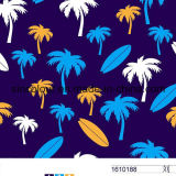 Coconut Palm Printing for Swimwear 80%Nylon 20%Elastane Fabric for Swimwear