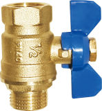 Hex Female/Male Thread Brass Butterfly Ball Valve