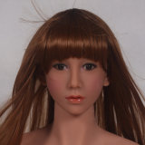 Tan Skin Sex Doll Lifelike Head for Real Sexy Dolls