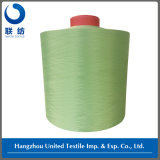100% Polyester DTY Dope Dyed Weaving Yarn (150D/48F NIM) Peacock Green