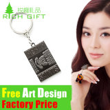 Custom Brand Pull Ring Zinc Alloy Stainless Steel Leather Keyring