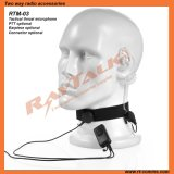 Tactical Throat Microphone with Optional Earpieces & Ptt for Intercom