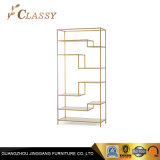 Multi-Function Gold Stainless Steel Frame and Tempering Glass Cover Shelf