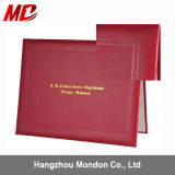 Maroon Pinhole Grain Certificate Holder Embossing Line Custom Design