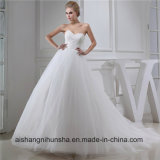 Sweetheart Wedding Dress Lace Tulle Soft Wedding Gown with Beading