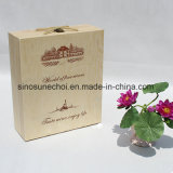 Handmade Feature Cheap Wooden Box for Wine Bottle