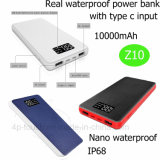 2017 Newest IP68 Waterproof Power Bank with 10000mAh Capacity Z10