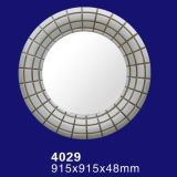 4029 Silver Tone Round Hinged Mirror Glass for Bathroom