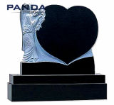 High Quality Heart Shape Marble Angel Monument From China