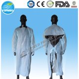 Disposable Plastic Gown, PE Gown with Finger for Food Processing